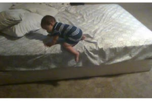 Baby Devises a Brilliant Plan To Safely Get Out Of Bed