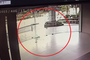 Did a Ghost Open and Smash This Glass Door to Pieces? Creepy…