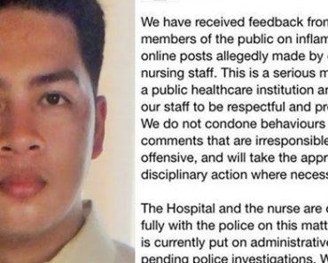Pinoy Nurse Faces Imprisonment After Racist Facebook Post Against Singaporeans