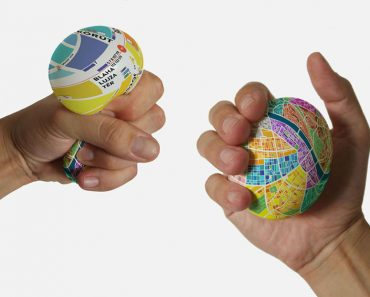 Cool Stress Ball Map Zooms In When Squeezed
