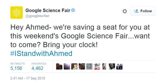 Photo credit: Twitter/Google Science Fair