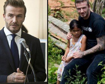 Filipina Girl Made David Beckham Cry During His UN Speech