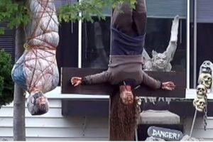Concerned Parents Are Complaining About This Family's Gory Halloween Display