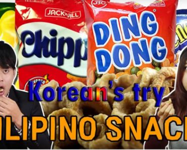Koreans Try Filipino Snacks For The First Time