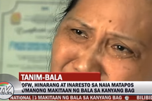 56-Year-Old OFW Bound for Hong Kong Detained for Bullet in Her Luggage