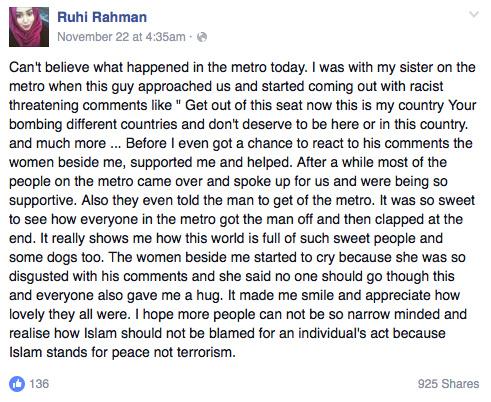 PHOTO CREDIT: Facebook/Ruhi Rahman