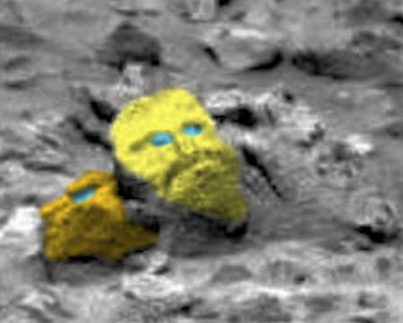 """""""Face of God"""" Reportedly Carved on a Rock in Mars"""