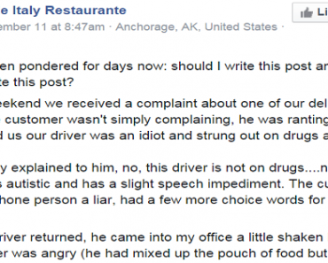 """Restaurant Stands Up for Employee with Autism, """"Fires"""" Customer Instead"""