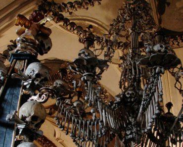 Chandelier Built Entirely of Human Bones Attracts Tourists Worldwide