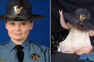 Viral: Photo of Girl Wearing Hat of State Trooper Mommy Killed by Drunk Driver