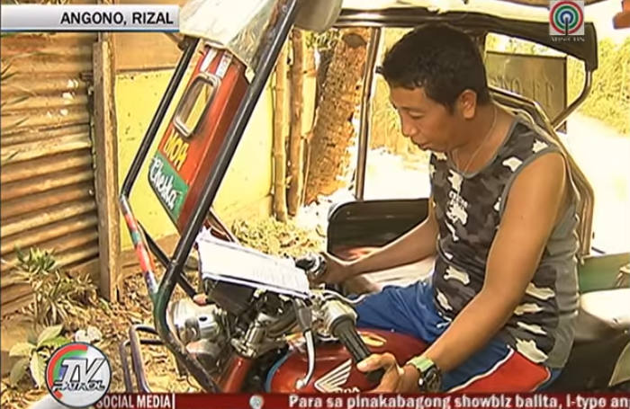 tricycle driver with master's degree