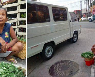 Blind Vendor Sells Vegetables along a Dangerous Highway