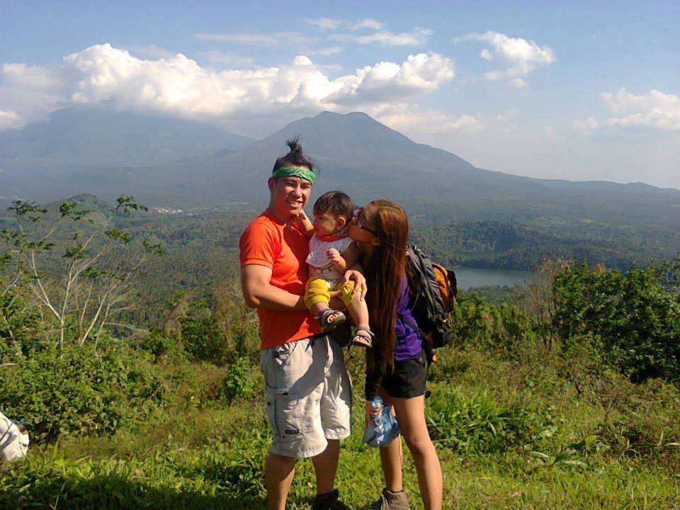 Wyatt and his parents at Mt. Mabilog Photo credit: When in Manila