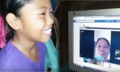 ofw parent communicating with her daughter through Skype