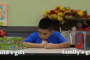 Watch: Kids Were Made to Choose Between Gift for Self or for Family