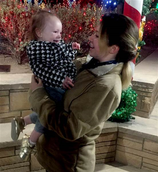 Just recently, Kaleena Pysher spent 5 days with her daughter's adoptive family for her 1st birthday. Photo Credit: Today / Kaleen Pysher