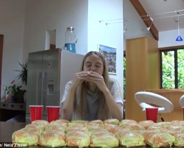 WATCH: Model Takes on the 100 Cheeseburger Challenge