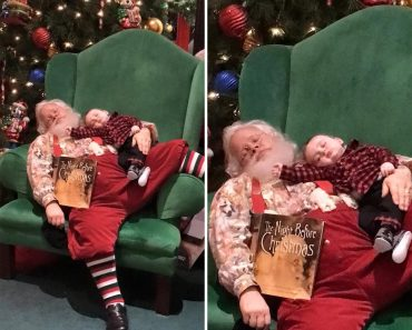 Photos of Sleeping Baby on Santa's Lap Will Melt Your Heart