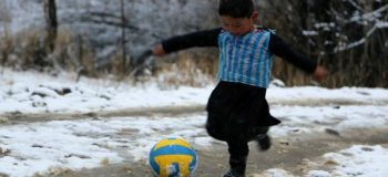 VIRAL: Photo of Adorable Afghan Boy in Plastic Bag Soccer Jersey