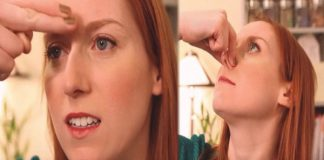 Two tricks to clear stuffy nose
