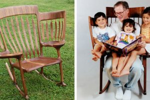 Craftsman Dad Creates Special Reading Chair For His 3 Kids