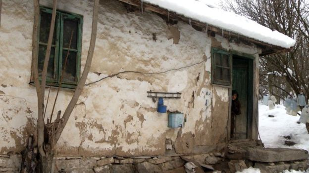 Marija's dilapidated house in Serbia Photo credit: AFP/Getty Images