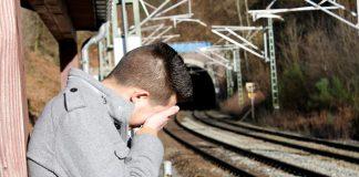 man crying