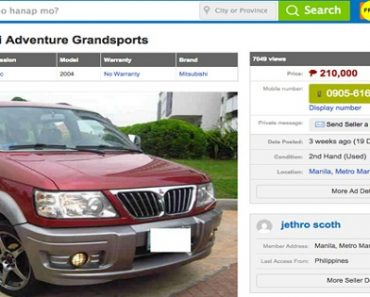 Online Seller Dupes Prospective Buyer of a 2004 Mitsubishi Adventure