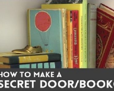 DIY Project: A Secret Door with a Bookcase and Fake Book Latch