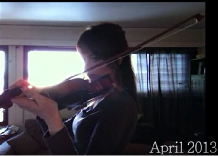 Self-taught violin player from Norway
