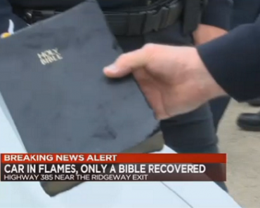 Driver in Car Accident Survives Fire… And His Bible was Recovered Unscathed!
