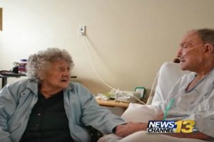 Elderly Woman Suffering From Dementia Serenades Husband During His Last Days