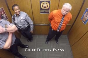 COOL VIDEO: Retiring Deputy Sheriff Caught Dancing in Office Elevator