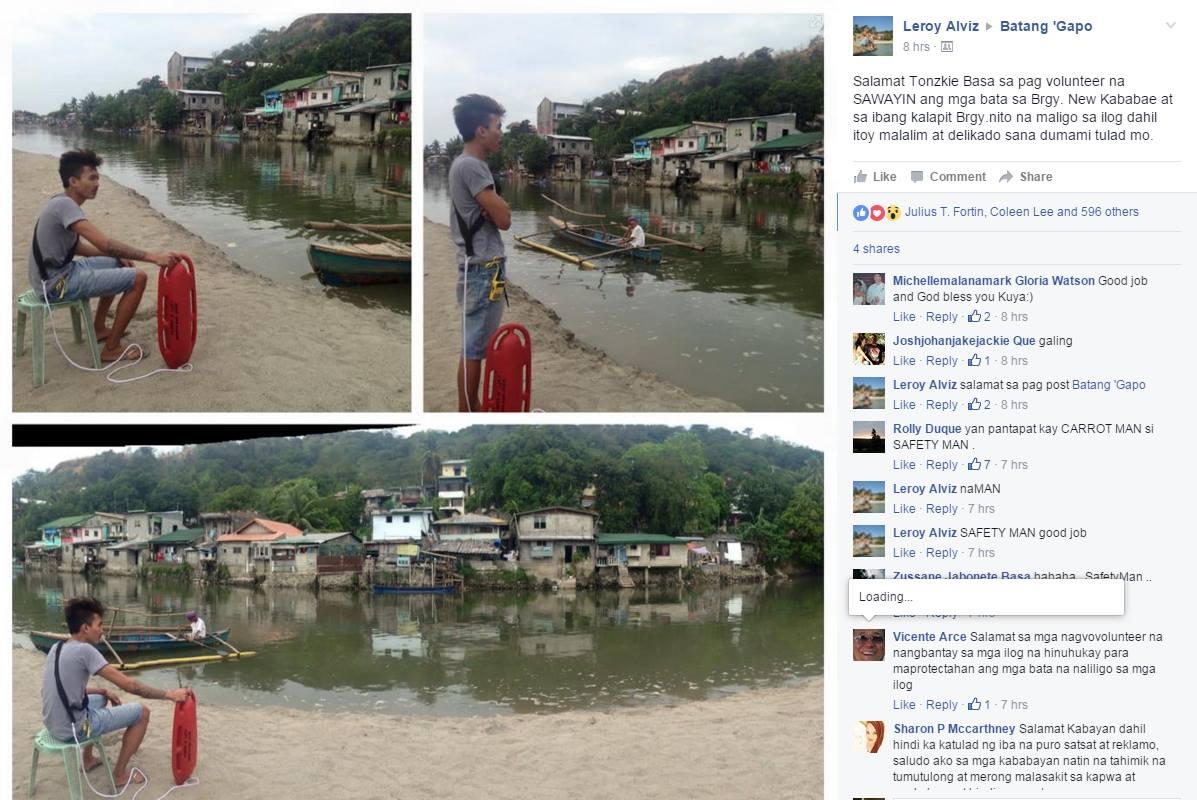 Photo credit: Facebook - Leroy Alviz/Batang 'Gapo