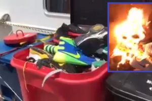 Even If Pacquiao Accepted Nike's Decision, Supporters Burned Nike Shoes in 'Support' and Protest
