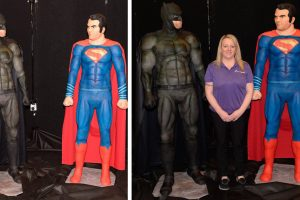 This Mom Baked Awesome Life-Size Cakes of Batman and Superman