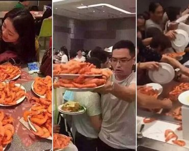 """WATCH: """"Greedy"""" Chinese Tourists Use Plates to Scoop Prawn at a Thai Buffet"""