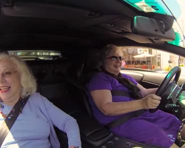 Funny Video: Two Grandmas Riding a Lamborghini!