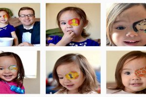 Dad Transforms Daughter's Eye Patch to Make Her Enjoy Her Treatment