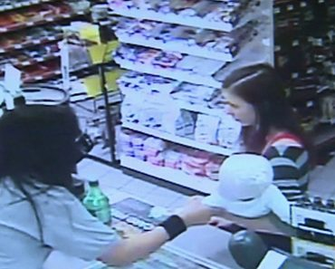 Mother Carrying A Baby Has Seizure Attack At A Convenience Store