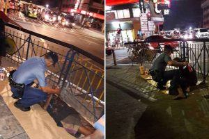 Policeman Earns Praise for Helping Homeless Old Man