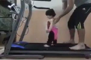 FUNNY VIDEO: Cool Dad Puts Child on Treadmill