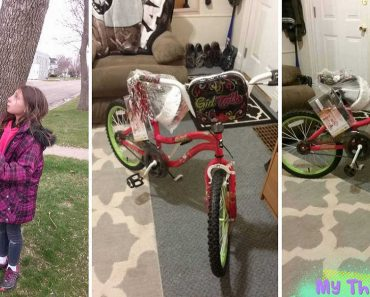 Cop Gives New Bike to Girl Whose Bike was Bent and Damaged by Crooks