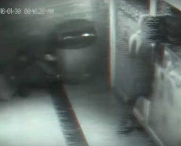 CCTV Footage Allegedly Shows Man Walking Through Closed Door