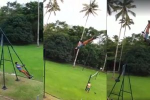 WATCH: Would You Dare Ride this 360-Degree Swing?