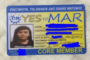 """Leaked Data from Comelec Website Allegedly Used to Produce """"Yes to Mar"""" I.D."""