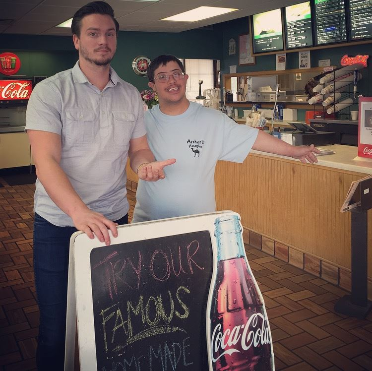 Andrew Ankar with friend, Chris McNelly Photo credit: Facebook/Ankar's Hoagies