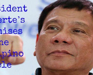 President Duterte's Promises to the Filipino People