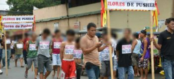 "VIDEO: Batangas Mayor Orders Suspected Drug Pushers to Take ""Walk of Shame"""