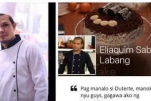 LOOK: Chef to Fulfill Promise to Give P5-Million-Worth of Cakes if Duterte Wins Presidency